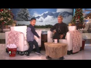 Ellen DeGeneres: The adorable Kai Langer can't feel his face when he's with me.