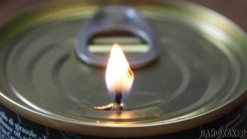 Как сделать из консервной банки свечу