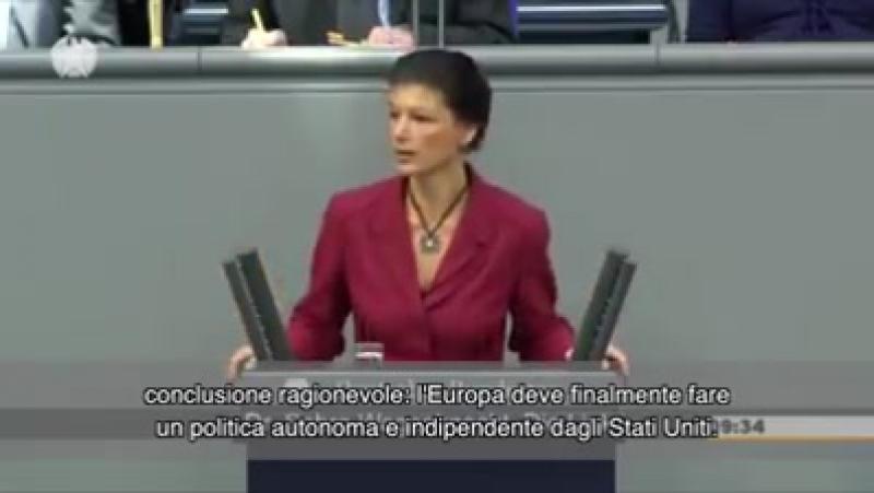 Sahra Wagenknecht, vice-presidente del Partito della Sinistra tedesco, Die Linke
