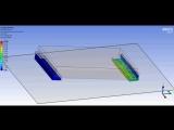Дроп-тест демпфирующего уголка с учетом нелинейности свойств нейлона