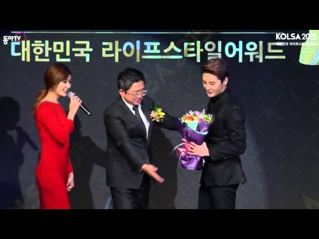 151209 2015 대한민국 라이프 스타일 어워드 JYJ XIA 김준수 올해의 톱스타상 수상