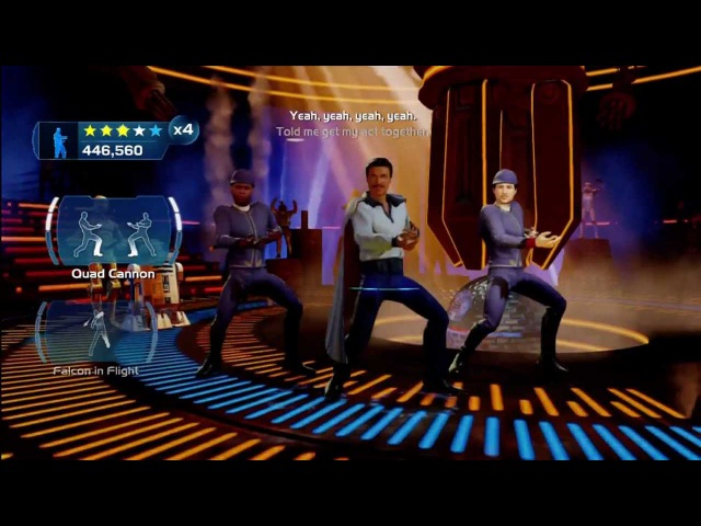 Kinect Star Wars Galactic Dance Off - Im Han Solo(Extended) Going Somewhere, Solo Achievement.