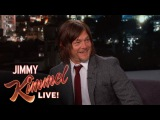 Norman Reedus Travels Covered in Fake Blood