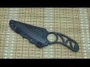 Шейный нож из карбона Черная пиранья