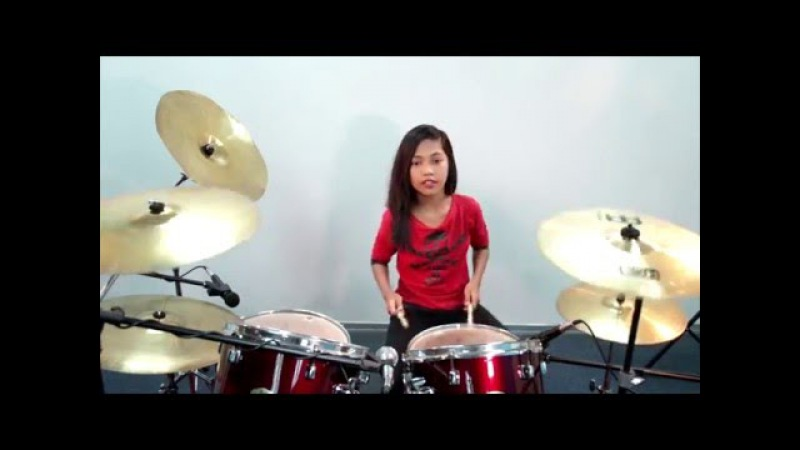 Europe - The Final Countdown Silent Knight Version Drum Cover by Nur Amira Syahira