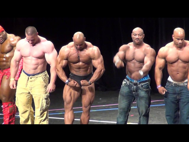 Jay Cutler, Kai Greene, Juan Morel, Evan Centopani, Victor Martinez Pose Down at the Atlantic States