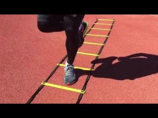 Упражнения с лестницей на ловкость и координацию