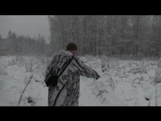 Охота на лося, тропление по следу, поиск в тепловизор
