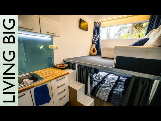 Spectacular 20ft Off-The-Grid Tiny Shipping Container House