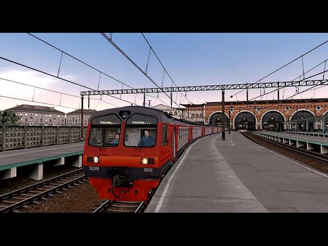 Trainz12   Москва-Казанская - Раменское на ЭД4М-0059