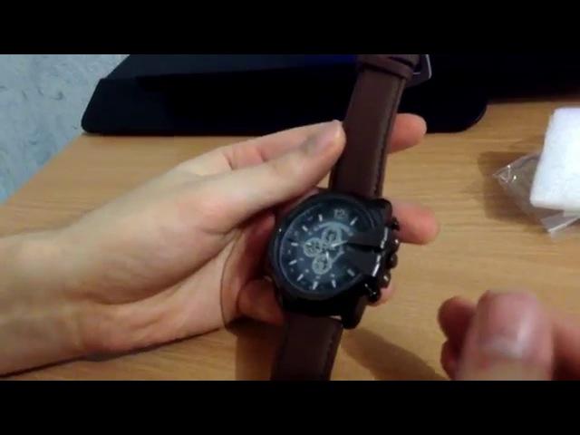 Большие строгие мужские часы V6 SuperSpeed. Посылка из Китая!