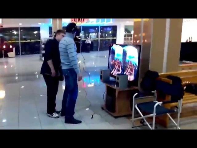 Виртуальная реальность с Oculus Rift (FAIL! Russian guy tests Oculus Rift)