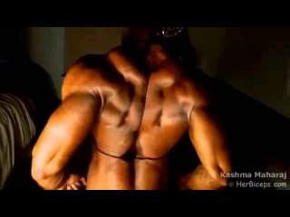 Female body builder Muscle girls perfect body Her Biceps workout to build muscle