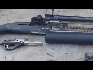 МР-153 чистим ружье с газоотводом
