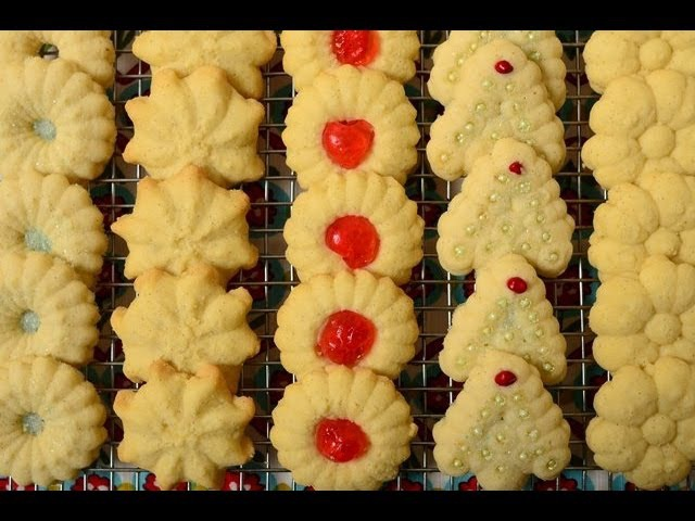 Spritz Cookies Recipe Demonstration - Joyofbaking.com
