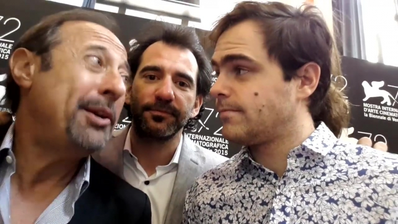 Director PABLO TRAPERO and actors GUILLERMO FRANCELLA and PETER LANZANI, stars of EL CLAN Competition, leave this message to al