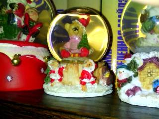 Пара слов о новогоднем настроении и новогодних стеклянных снежных шарах...