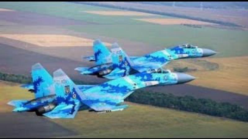 Лисичанск. АТО. Истребитель ВВС Украины нанес серию авиаударов по позициям терр ...
