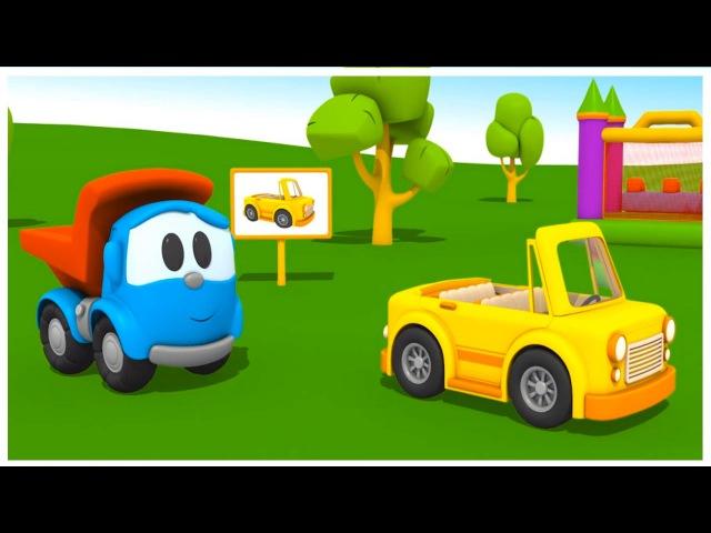 Leo the truck racing car. Kids cartoons.