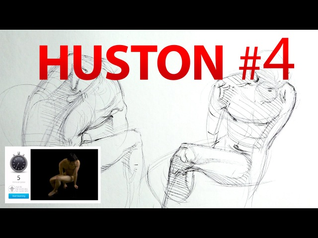 How to Draw People Demo Tutorial with Steve Huston after Daily Life Drawing Session 4