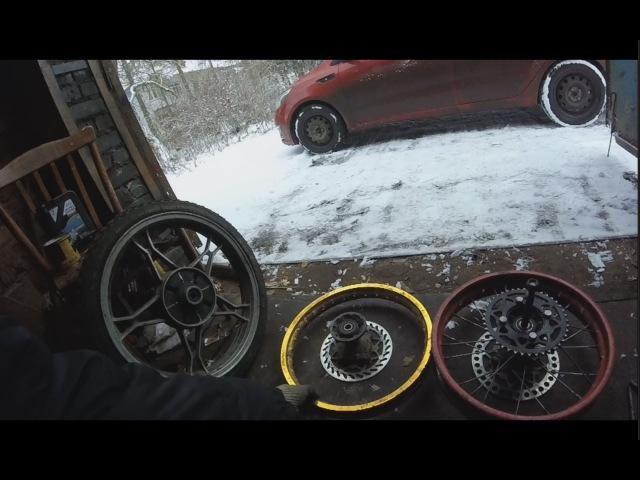 Слесарка от Мото Артёма 7 Спицевание колеса