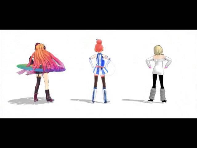 [MMD] Roxxy Lalonde, Akikoloid-chan, Ritsu Naime [World is Mine]