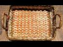 ▬► Плетение из газет квадратного дна -Часть1. / Bottom of the basket weaving