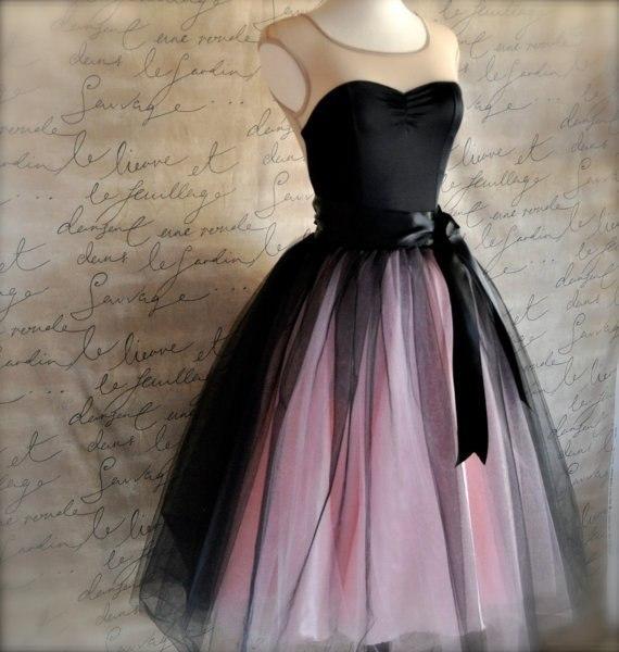 Как обработать платье из фатина