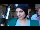 Behind the scenes with Julia Voth cosplaying as Jill Valentine