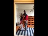 Акро-йога. Уэсти и Мейсон с Сашей Крашником