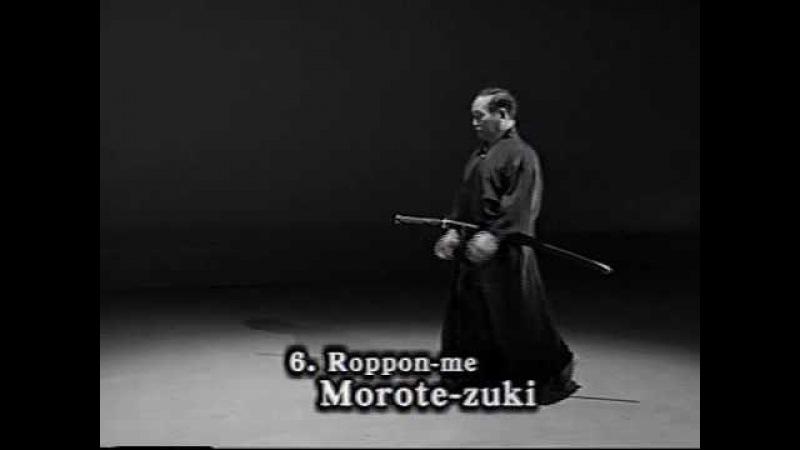 6. Iaido Kata Seitei 06 Roppon-me - Morote-zuki - High quality - www.thesamuraiworkshop.com