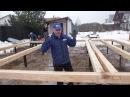 7.1. Строительство каркасной бани. Обвязка свай. СИП перекрытие. Стены. Строй и Живи