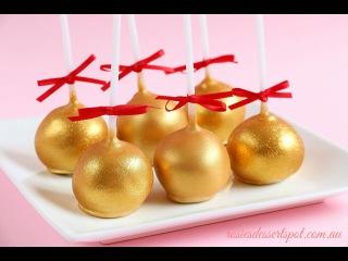 ( https://vk.com/lakomkavk) How To Make Gold Cake Pops