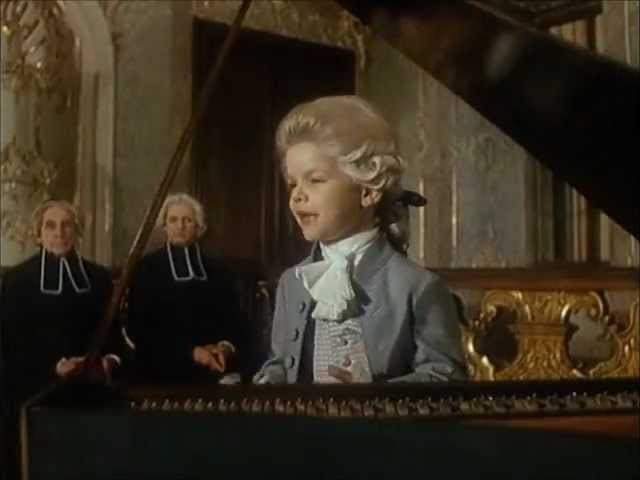 Маленький Моцарт у Зальцбургского архиепископа