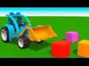 Раскраска про машинки Грузовичок Лева и Трактор цвета для детей