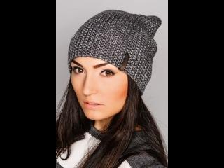 ♥Шапка бини♥Женская шапка+мастер класс+полное описание♥lesson 2.Вязаная шапка бини спицами♥