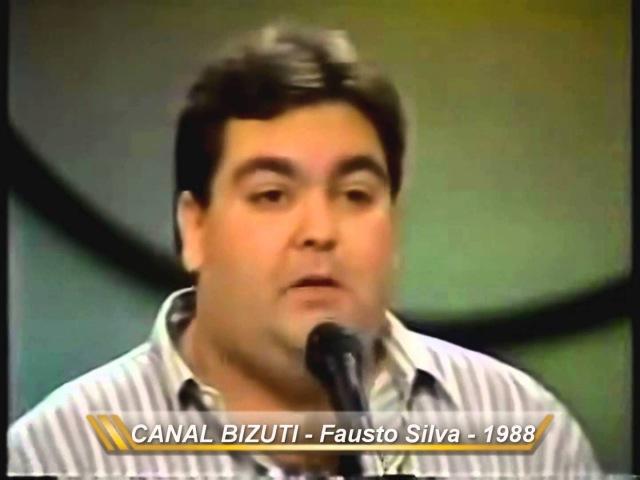 Fausto Silva entrevista Show de Calouros-Silvio Santos1988