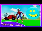 Человек Паук на гонках с машинками из мультика ТАЧКИ - Маквин и Бернули. Игра ДИСНЕЙ для детей