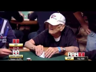 96 year old man shows cocky poker player whos the boss