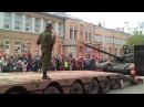 Погрузка танка около площади Куйбышева, Самара (09.05.15)