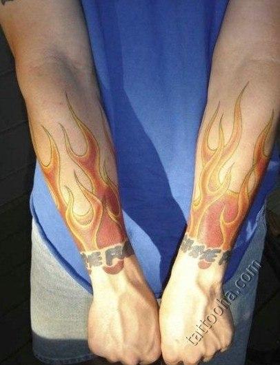 Огонь на руке тату значение