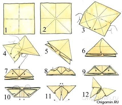 Бабочки оригами своими руками из бумаги