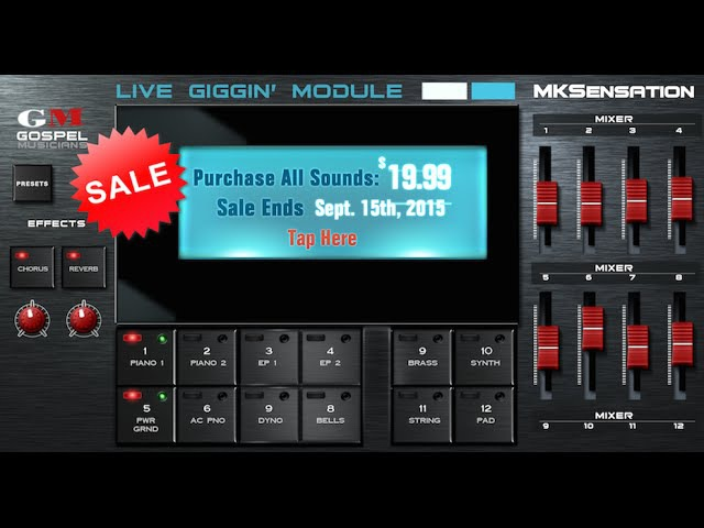 MKSensation for iPad - MKS Live Giggin' Rompler Module for iPad