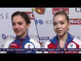 2016-01-27 - Чемпионат Европы 2016 | Интервью Евгении МЕДВЕДЕВОЙ и Елены РАДИОНОВОЙ после КП
