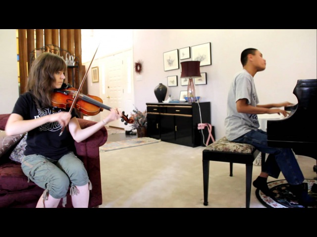 LIGHTS BASSNECTAR REMIX - Lindsey Stirling and blind piano prodigy Kuha'o play dubstep song together