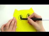 Поделки своими руками! Тося и открытка-приглашение! Видео для детей.