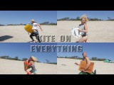 Kite on everything - the unlovely surfer boys Kiteboarding extreme Funny kitesurfing