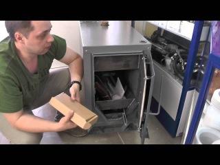 Твердотопливный котел Warmos TT в работе