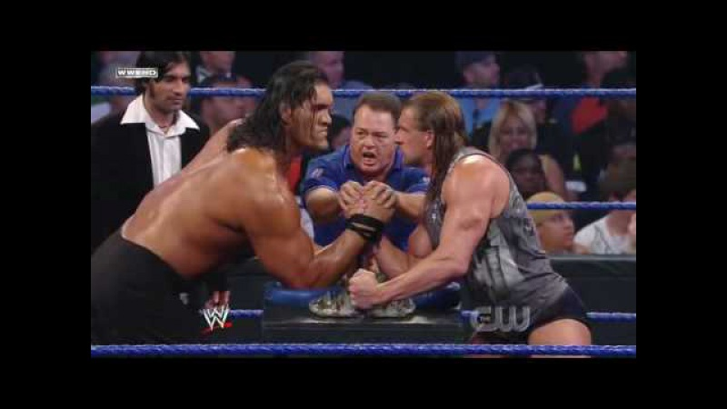 Triple H vs. The Great Khali (Broken Glass Arm Wrestling) (2/2) » Freewka.com - Смотреть онлайн в хорощем качестве