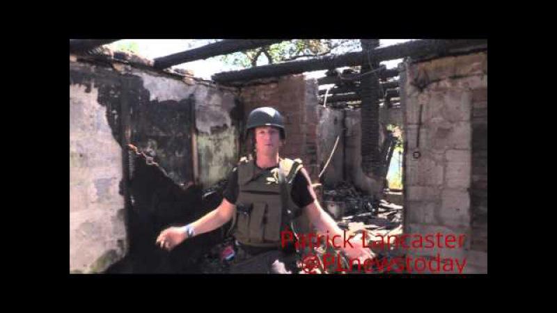 ( Rus суб) Обстрел Донецка Украинской армией, попадание в 4 дома и общежитие